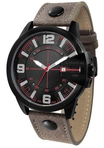 Relógio Masculino Lince Pulseira Couro Ref. Mrc4485s-p2nx