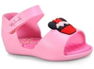Sandália Grendene Baby Disney Minnie Fun Sorvete Rosa P
