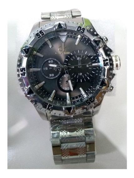 Relógio Calvin Klein Prateado Masculino Aço Inoxidável