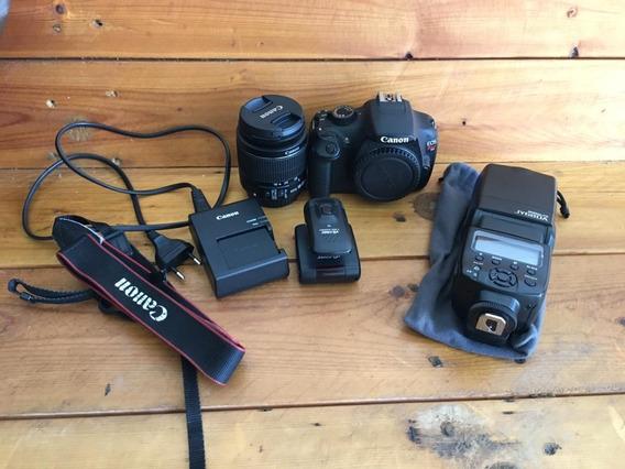 Canon T5 + Lente 18-55 Stm + Flash Speedlite + Rádio Flash