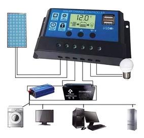 Controlador Carga Painel Solar Pwm 20a 12/24v Carregador