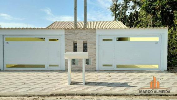 Casa Com 2 Dormitórios À Venda, 68 M² Por R$ 250.000 - Jardim Bopiranga - Itanhaém/sp - Ca0248