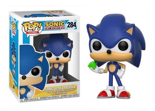 Funko Pop Sonic With Emerald #284 - Miltienda - The Hedgehog