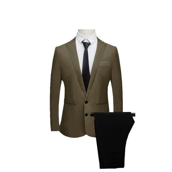 Terno Masculino Polivisose Kit Blazer Calça Slim Fit