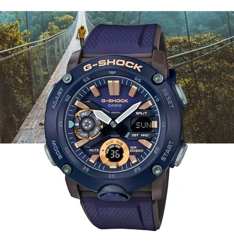 Relógio Casio G-shock Carbon Core Guard Ga-2000-2adr Azul