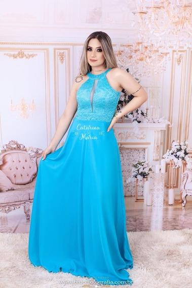 Vestido Longo Madrinha Festa Rose Marsala Tyfany Coral 44 46