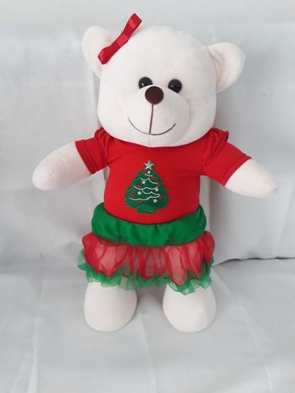 Urso De Pelúcia Ursinho Natal Natalino 45cm Crie Seu Amigo