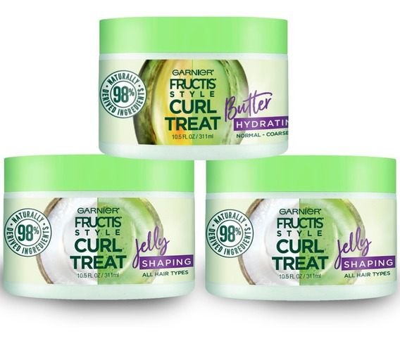 Pack 2 Natural Styling Curl Jelly + 1 Natural Styling Butter