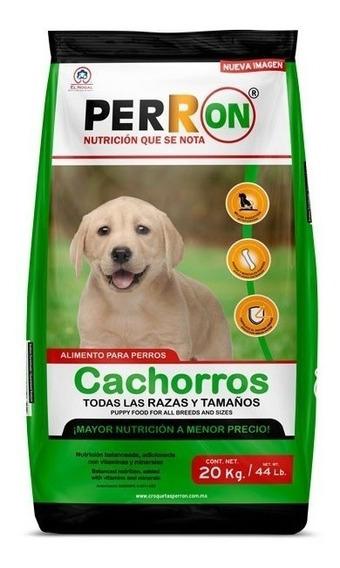 Perron Cachorro 20kg. Croqueta Alimento Perro Todas Las Raza