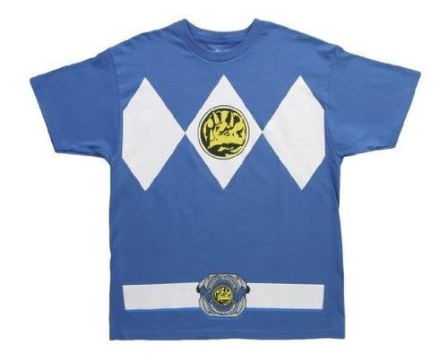 Camiseta De La Camiseta Del Traje De Los Rangers Azules