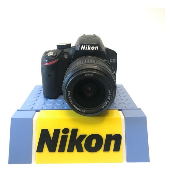Câmera Nikon Profissional D3200 C/ Lente 18-55mm Semi Nova
