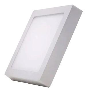 Plafon Panel Led 24w Aplicar Cuadrado 30x30cm Luz Fria Etheo