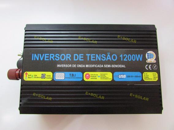 Inversor Conversor Tensão 24v 127v 1200w (potência Real)