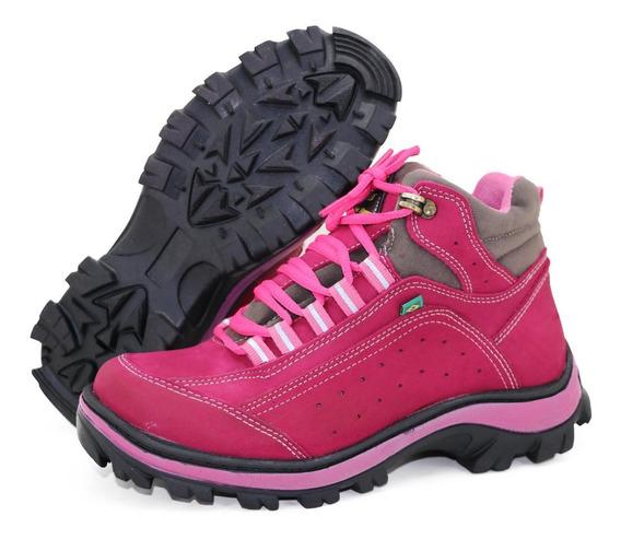 Coturno Adventure Feminino Couro Atron Shoes 019 - 39 Promoção , Queima De Estoque, Envio Imediato**--**