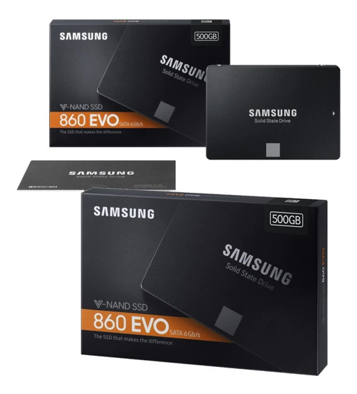 Ssd Samsung 860 Evo 500 Gb Sata 3 6 Gb/s Original Lacrado Pronta Entrega