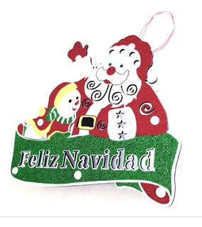 Santa Claus Trineo Adorno Colgante Navideño