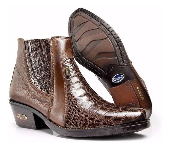 Bota Botina Masculina Country Jaca 100% Couro Capelli Boots