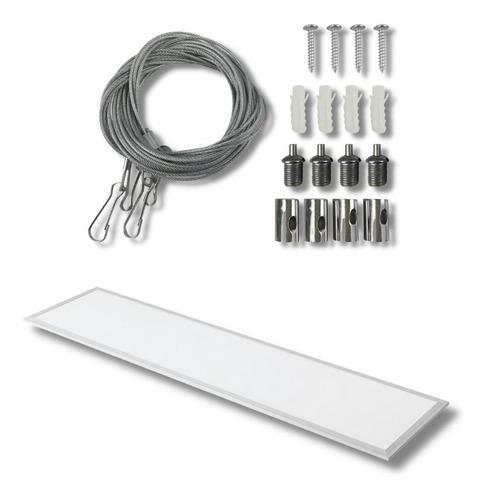 Imagen 1 de 10 de Panel Led 120x30 Para Embutir 48 W Frio +kit De Suspensión