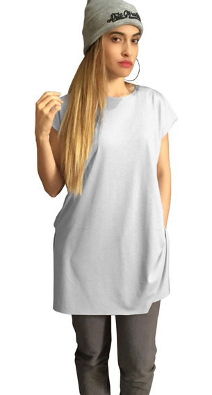 Camiseta Long Feminina Roupa Estilo Tumblr Comprida Alongada
