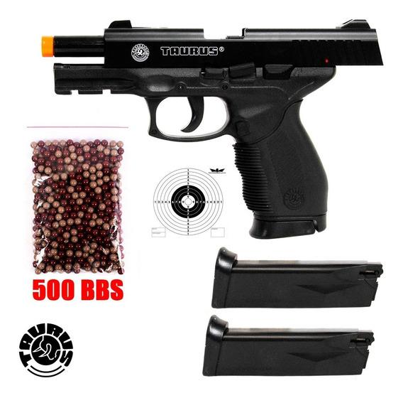 Pistola De Airsoft Spring Cybergun Taurus 24/7+ 500 Bbs+ Mag