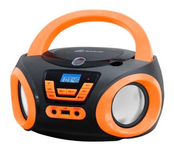 Rádio Portátil Lenoxx Boombox Bd121 Preto E Laranja, 5w Rm
