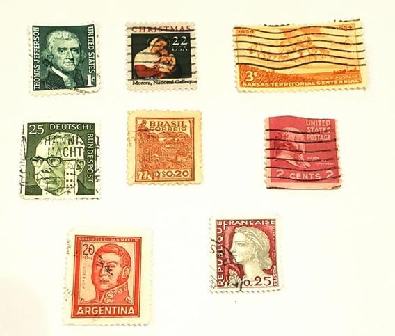 Estampilla Usa Thomas Jefferson 1c/ Kansas/ Deutshce/ 22usa