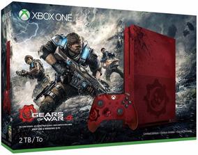 Xbox One S 2tb Edição Limitada Gears Of War 4 Lacrado