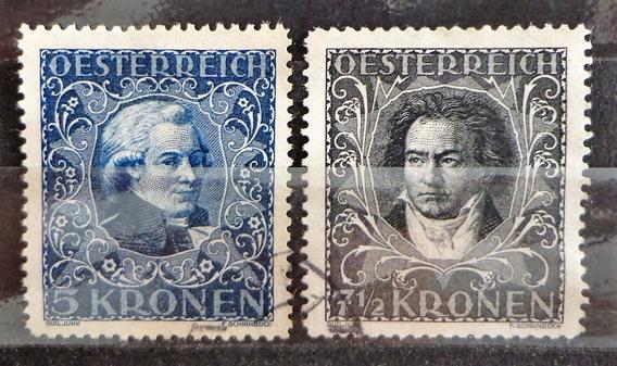Austria, Lote 2 Sellos Yv. 291-2 Compos 22 Usados L10416