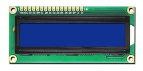 Display Lcd 16x2 1602 Com Backlight Azul E Escrita Branca