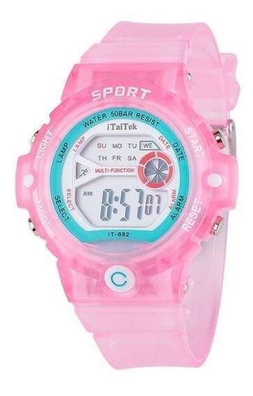 Relógio Digital Watch Relógio Moda Relógio Lcd Á Prova Água