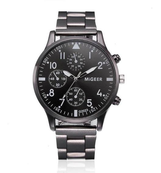 Relógios Homens Moda Aço Inoxidável Analógico De Pulso D