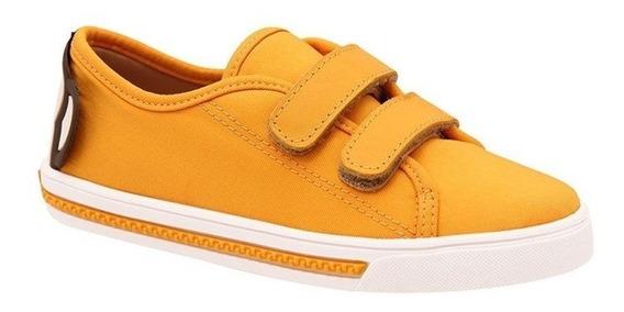 Tênis Kipling Velcro Macaco Amarelo - Infantil