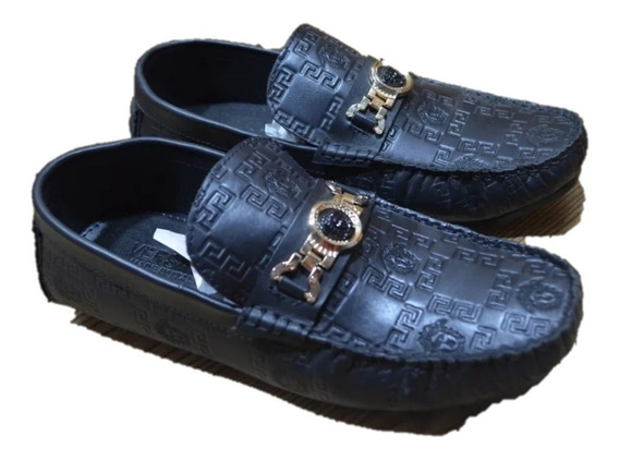 Zapatos Mocasines Versace Black Remate Envio Gratis