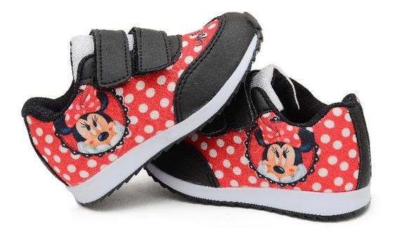 Tênis Infantil Minnie Vermelho Menina Botinho Escolar