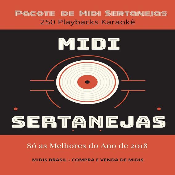 Pacote Midi Karaokê Sertanejas - As Melhores De 2018