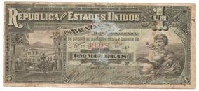 R074b - Cédula 1 Mil Réis - Tesouro Nacional - 1892 - Rara!!