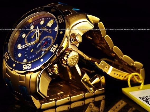 Relógio Invicta Masculino,ouro 18 K Banh P/e