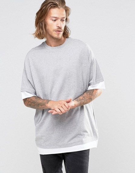 Camiseta Oversised Swag Camisa Blusa Long Line - Rosa Tribal