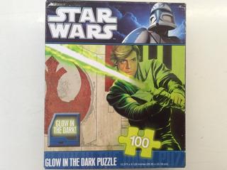 Star Wars Rompecabezas 100 Piezas Glow In The Dark Luke