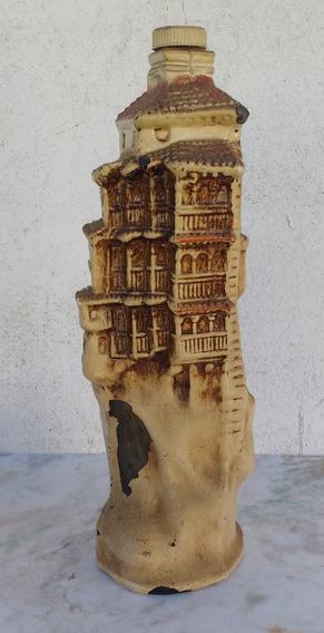 Antigua Botella Licorera Forma De Casas Colgadas Cuenca