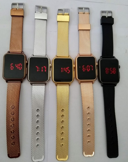 Relógios Digital-led Quadrado C/10 Unissex Atacado 100%lucro