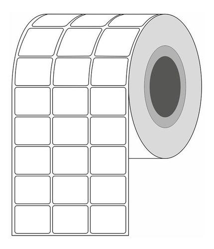 Rollo De Etiquetas Adhesivas 32x25mm Transferencia Térmica
