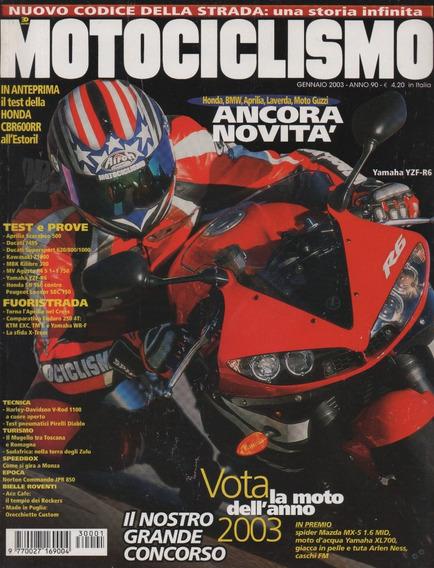 Motociclismo N°2572 Yamaha Yzf-r6 Kawasaki Z1000 Ducati 749s