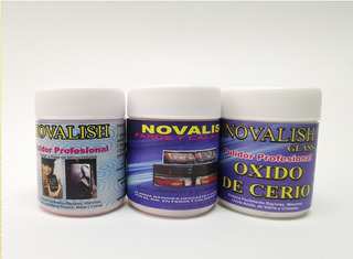 Kit Pulido Perfecto, Novalish Glass,faros Y Clasico. 3 Fras