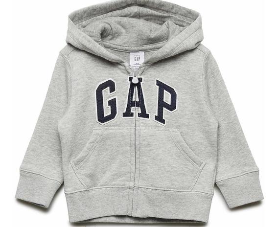 Sudadera Gap Hoodie Abierta Para Niño 3 Y 5 Gris