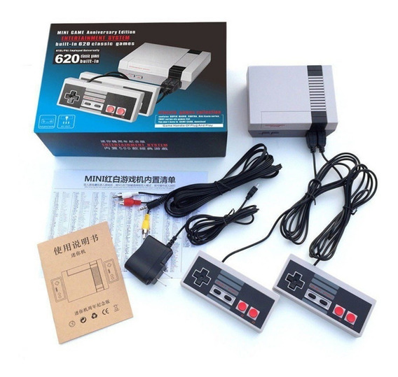 Video Game Console Versao Nes8bits + 620 Jogos
