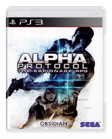 Game - Alpha Protocol: The Espionage Rpg - Ps3
