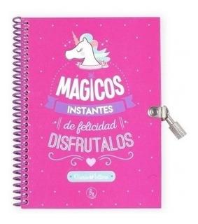 Diario Intimo Unicornio Rosa - Magicos Instantes De Felicida