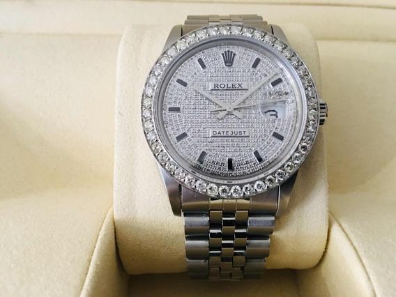 Rolex Datejust Diamantes Naturales 4ct. Quick Set. Zafiro.