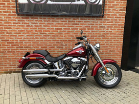 Harley Davidson Fat Boy 2017 Vermelha Impecavel